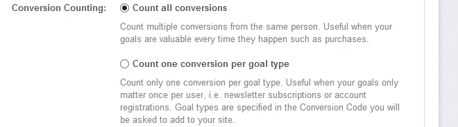 Don&#039;t Count Duplicate Conversions