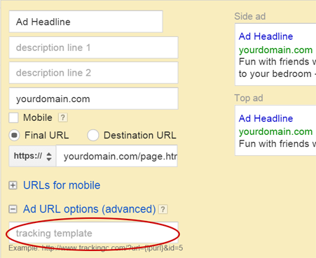 improvely adwords tracking templates migration guide